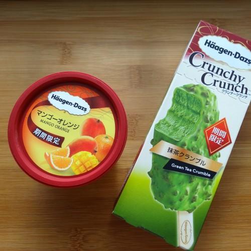 ハーゲンダッツ マンゴーオレンジ、抹茶クランブル