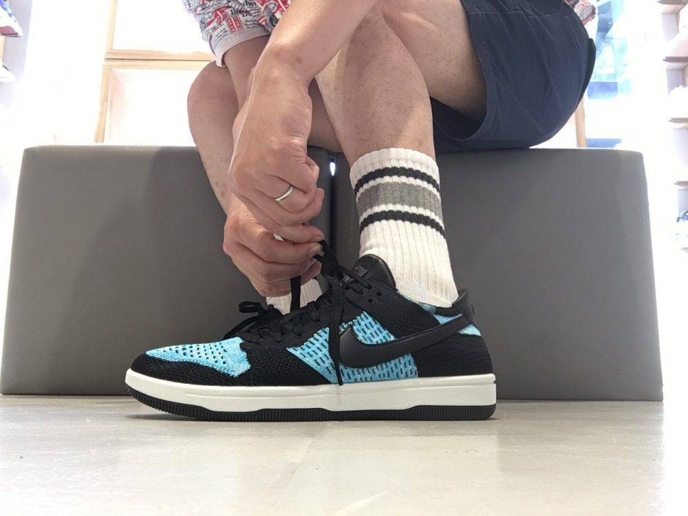 NIKE DUNK FLYKNIT BLACK/CHLORINE BLUE-SUMMIT WHITE