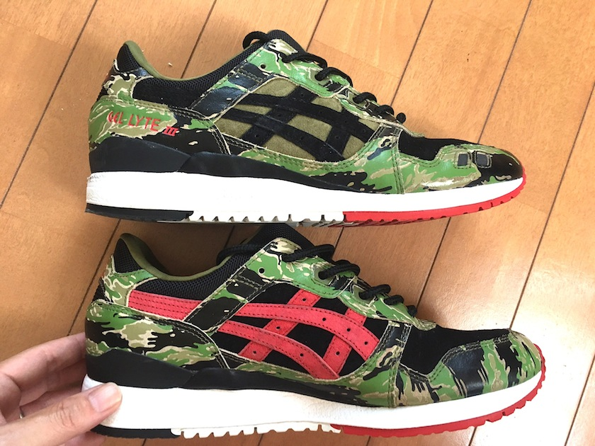 "ASICSTIGER×atmos GEL-LYTE Ⅲ FOR atmos""GREENCAMO"""