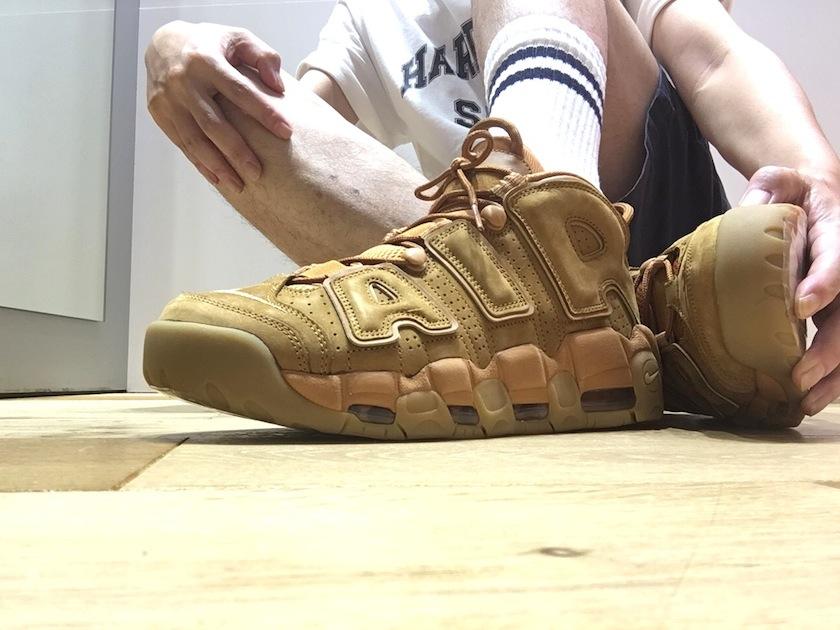 """ナイキ エア モア アップテンポ 96PRM """"Wheat"""""""