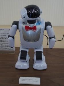 富士ソフトのコミュニケーションロボット「Palmi(パルミー)」。VAIOが量産をしています。