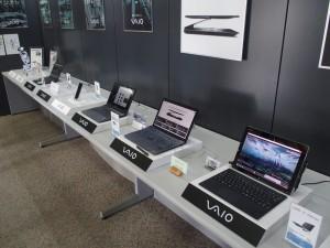VAIO(株)が生産した商品たち。