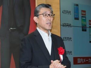 楽天副社長の平井康文氏。