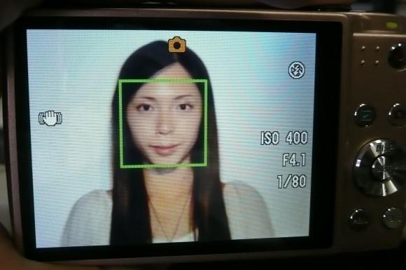 顔認識メイクアップ機能オフ