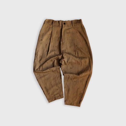 DYCTEAM, BRUSH PATTERN LOOSE CROPPED PANTS
