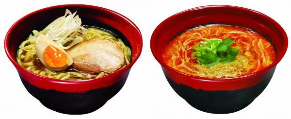 「7種の魚介 醤油糖質オフ麺」 「7種の魚介 胡麻香る担々麺」