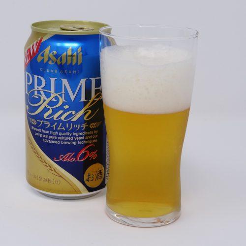 クリアアサヒ プライムリッチとビールグラス