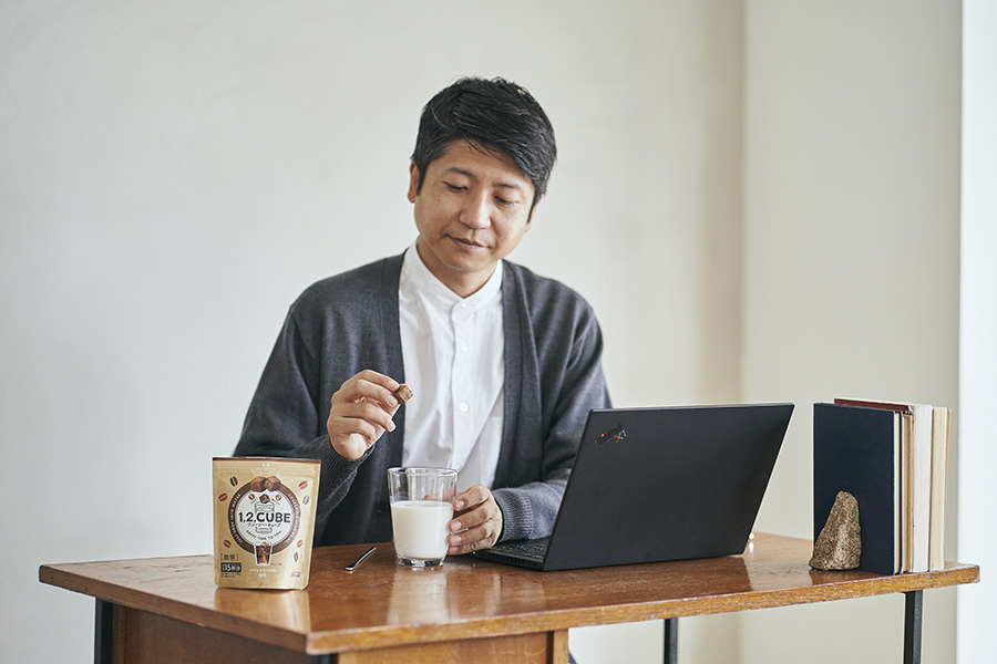 1,2,CUBE(ワン・ツー・キューブ)珈琲 仕事中での試飲