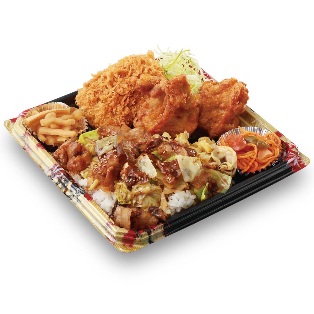 「かつや」全力飯弁当、回鍋肉丼から揚げチキンカツ弁当