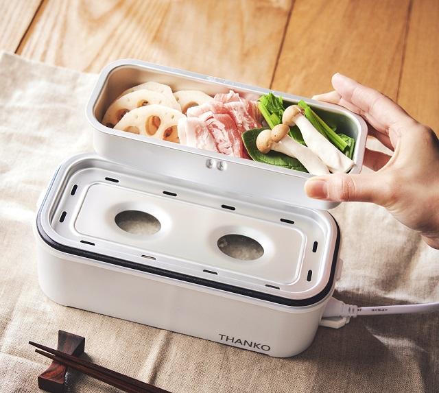 サンコー/2段式超高速弁当箱炊飯器