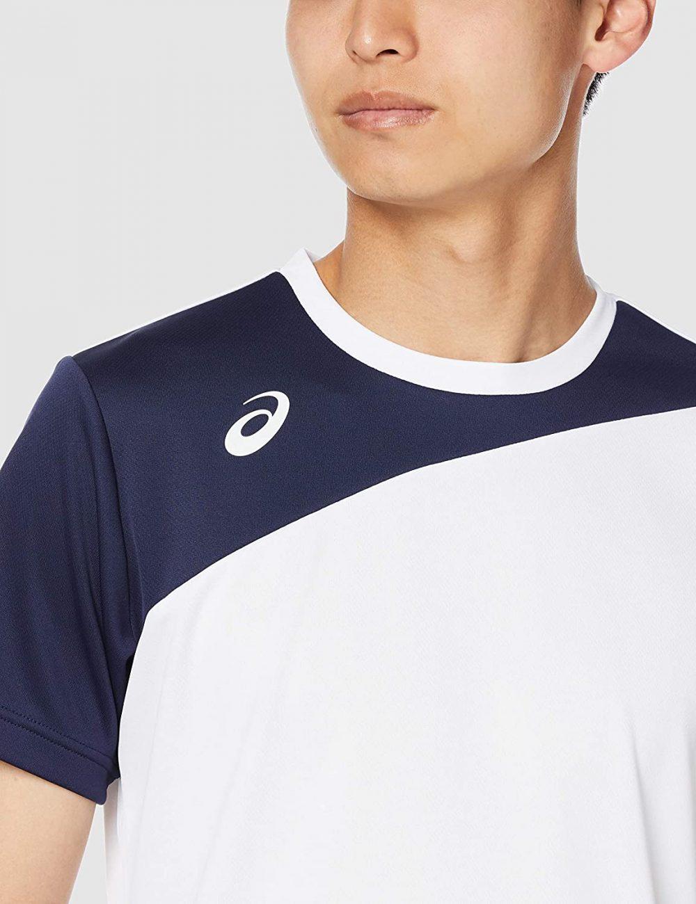 [アシックス] 【Amazon.co.jp限定】トレーニングウエア カラーブロックワンポイント半袖シャツ 2031C006 メンズ