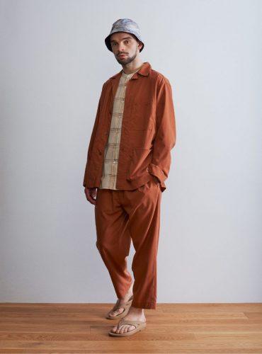 リヨセルポプリンワークジャケット