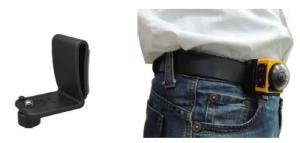ジーパンのベルトなどに留められるアクセサリー、クリップ。