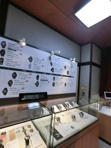 常設の時の部屋には、カシオトロンや歴代のG-Shockなどが展示されている。
