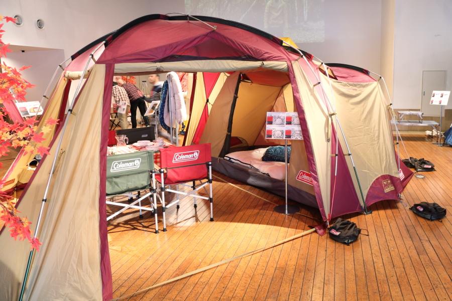 キャンプ コールマン テント