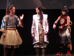 左から浦島太郎の桐谷健太、桃太郎の松田翔太、金太郎の濱田岳。すでにいくつものバージョンのCMが放映中だ。