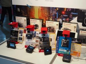 SDカードUSBメモリーでおなじみのトランセンド。ドライブレコーダーも展示していた。