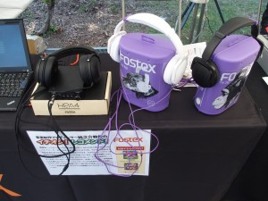 FOSTEXのコーナー。HP-A4、TH-7Wを展示。