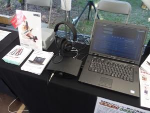 KORGのコーナー。DAC-100/100m、AudioGate3を展示。