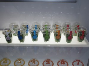 こちらは東芝のプラントで作ったカップヤサイ。東芝クリーンルームファーム 横須賀ですでに生産が開始されているとこのこと。