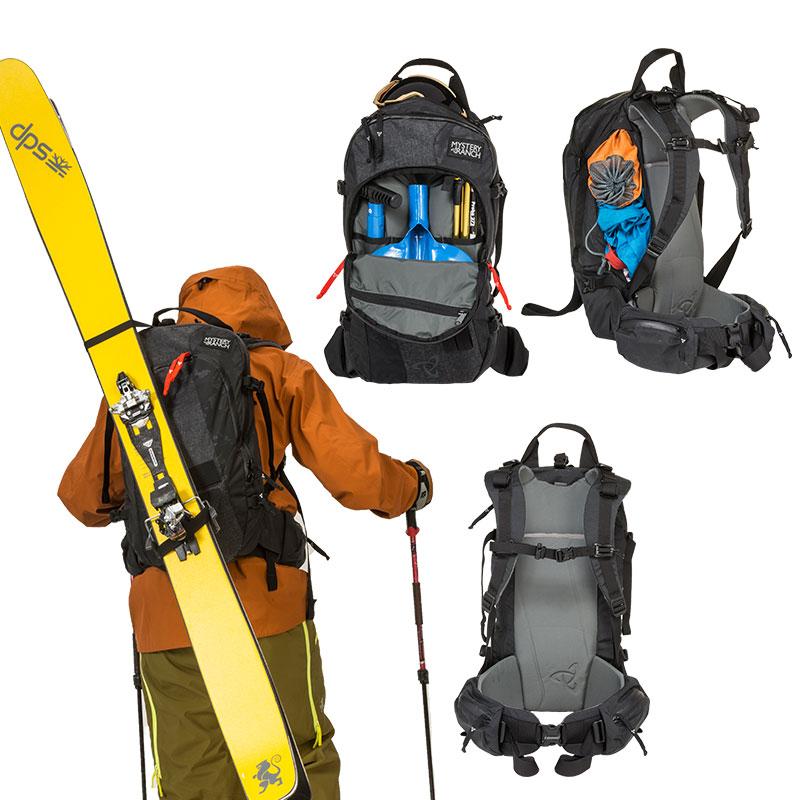 1ea8f7acdd44 スキーツアーに最適な22ℓのサドルピークにはアバランチギアに素早く手が届く専用ポケットが備わり、2通りのスキーキャリーが可能です。アタッチメント(別売り)を使用  ...