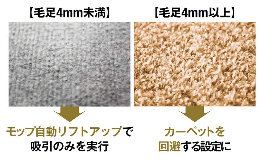 ロボロック「Roborock S7+」はカーペットの毛足の長さで行動を変えられる