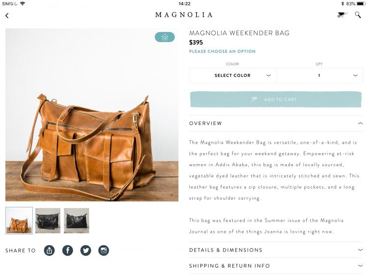 Magnoliamarket画面