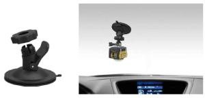 車のダッシュボードの上に設置ができる吸盤マウント。