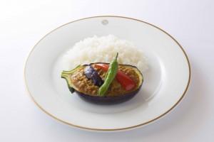 茄子と豚肉のキーマカリーライス