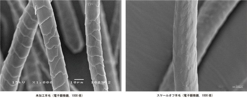ed3095c3e3 ウールの縮みの原因は、羊毛の表面にあるスケールと呼ばれるうろこにあるのですが、これを除去するスケールオフ加工によってウォッシャブル機能を実現しています。